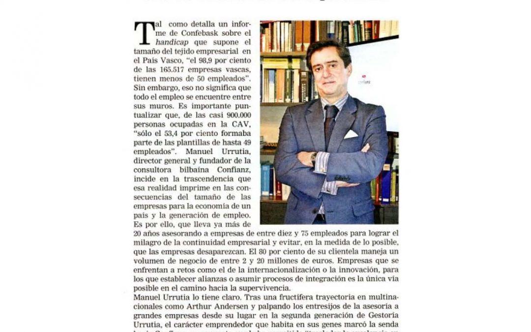 Manuel Urrutia, entrevistado en el quincenal económico Empresa XXI