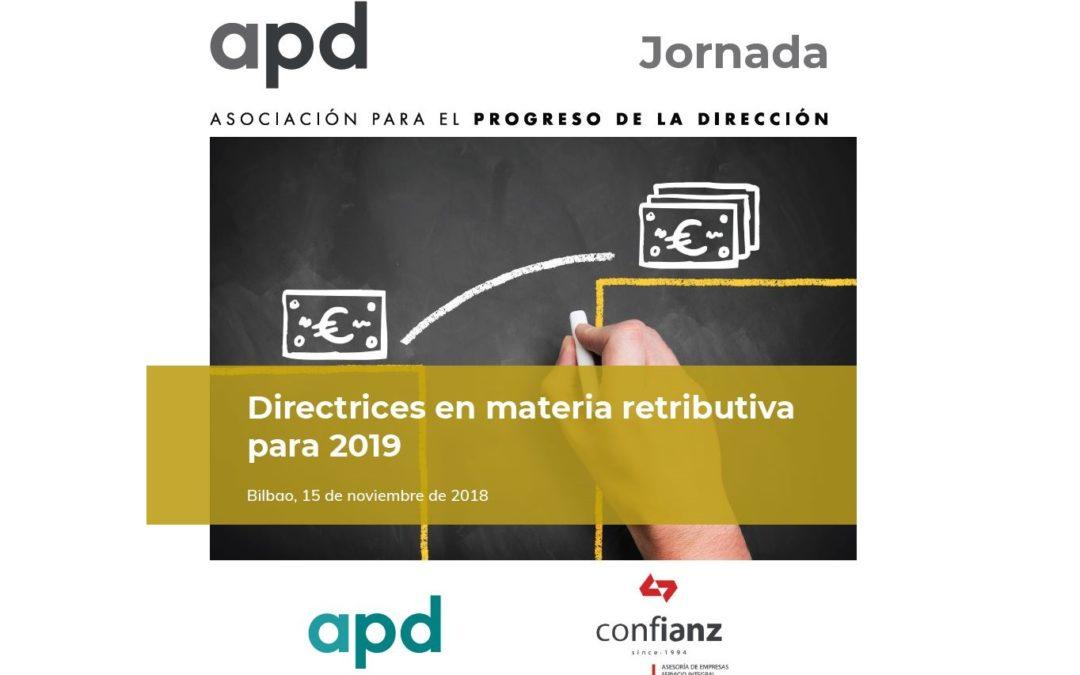 Directrices en materia retributiva para 2019