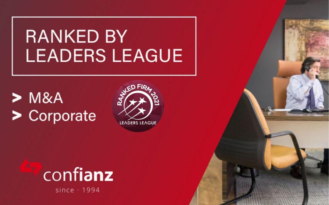 Nuevo reconocimiento del ranking Leaders League para Confianz